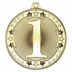 Tri Star Medal - 1St Gold 2In