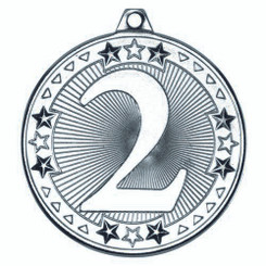 Tri Star Medal - 2Nd Silver 2In