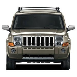 Premium FX 1pc Chrome Grille Overlay for 2005-2011 Jeep Commander Base Model