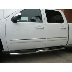 Auto Reflections | Side Molding and Rocker Panels | 09-13 Chevrolet Silverado HD | R20132-Silverado-HD-Chrome-Door-Trim