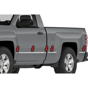 Auto Reflections | Side Molding and Rocker Panels | 14-15 Chevrolet Silverado 1500 | R2150-Silverado-body-side-molding