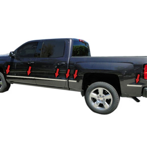 Auto Reflections | Side Molding and Rocker Panels | 14-15 Chevrolet Silverado 1500 | R2161-Silverado-body-side-molding