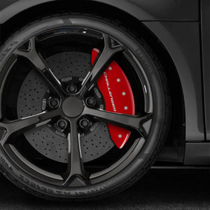 EXCALIPER w/Stripes Caliper Covers for 09-10 Dodge Challenger R/T 5.7L V8 (Fits Dual piston Front calipers)