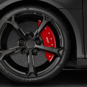 Front and Rear MGP Caliper Covers for 2007-2013 Mercedes S550 4Matic