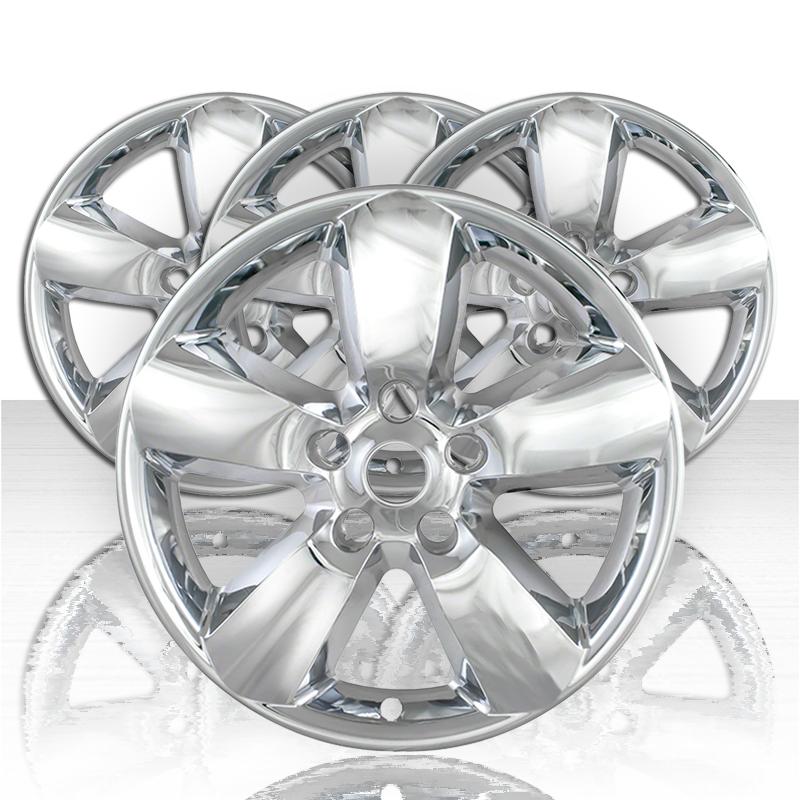 """Set of 4 17/"""" Gloss Black Hubcap Rim Wheelskins For 2013-2015 Ram 1500"""