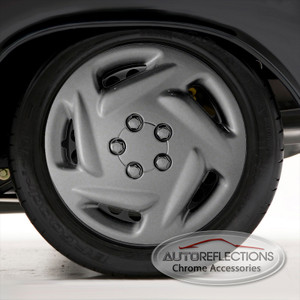 """Set of Four 15"""" Silver ABS Wheel Covers for 1996-2000 Dodge Caravan (Push-on)"""