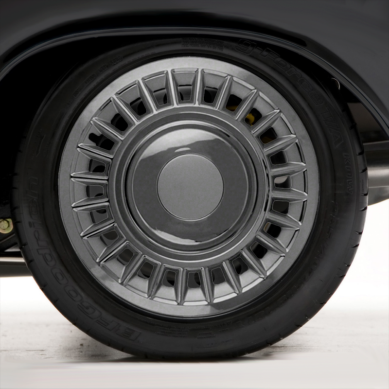 Spherical Autostyle Set Wheel Covers Orion-Van 15-inch Silver//Black