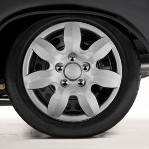 "Set of Four 15"" Silver ABS Wheel Covers for 2007-2011 Hyundai Elantra (Push-on)"