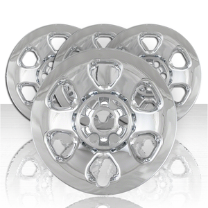 """Set of Four 18"""" Chrome ABS Wheel Skins for 2013-2015 Nissan Titan w/Steel Wheel"""