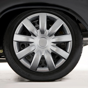 """Set of Four 15"""" Silver ABS Wheel Covers for 2004-2006 Toyota Camry (Push-on)"""