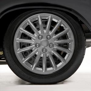 "Set of Four 17"" Chrome ABS 15 Spoke Wheel Covers (Push-on)"