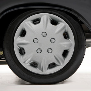 """Set of Four 14"""" Silver ABS 8 Hole Wheel Covers (Push-on)"""