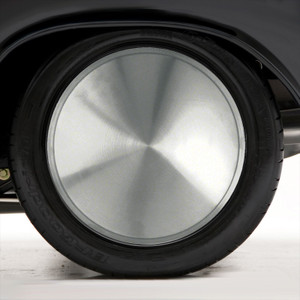 "Set of Four 16"" Polished Stainless Steel Wheel Covers (Push-on)"
