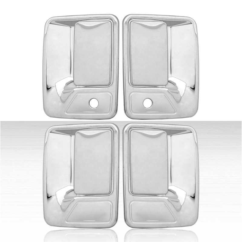 Set 4 Chrome Door Handle Covers for 2000-2005 Ford Excursion w//Pass Key