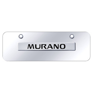 Chrome Nissan Murano Name on Chrome Mini License Plate - Officially Licensed