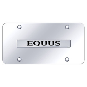 Chrome Hyundai Equus Name on Chrome License Plate - Officially Licensed