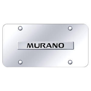 Chrome Nissan Murano Name on Chrome License Plate - Officially Licensed