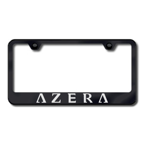 Hyundai Azera Laser Etched on Black License Plate Frame - Officially Licensed
