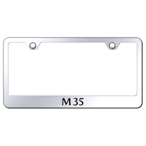 Infiniti M35 on Stainless Steel License Plate Frame - Officially Licensed