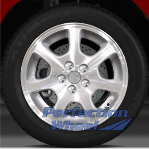 2002-2005 Dodge Neon 15x6 Factory Wheel (Sparkle Silver Machined w/Ledge)