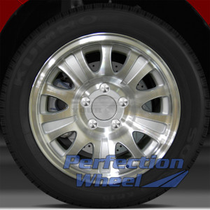 2000-2004 Ford F-150 17x7.5 Factory Wheel (10 Slot Sparkle Silver Machined)