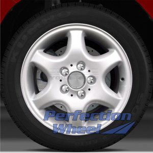 1998-2000 Mercedes C230 16x7 Factory Wheel (Fine Metallic Silver)