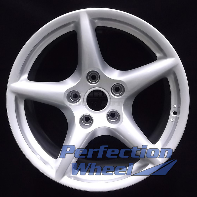 2006 2008 Porsche 911 18x11 Factory Rear Wheel Bright Medium Silver