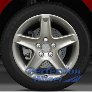 2004-2006 Acura TL 17x8 Factory Wheel (Bright Fine Metallic Silver)