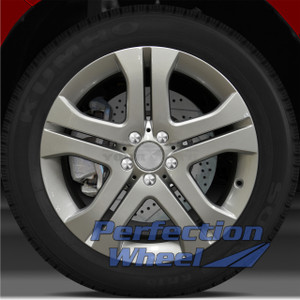09-11 Mercedes ML350 19x8 Wheel (5 Double Spoke Bright Medium Silver Full Face)