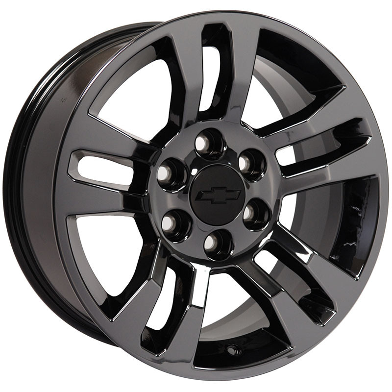 18x8 5 Oem Pvd Black Chrome Wheel For 1999 2014 Chevy Silverado 1500