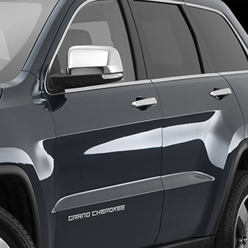 For Jeep 05-10 Grand Cherokee 4D Chrome Door Handle Cover W//O Passenger Keyhole