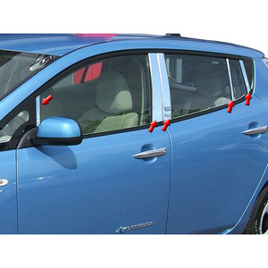 Luxury FX   Pillar Post Covers and Trim   11-16 Nissan Leaf   LUXFX2249