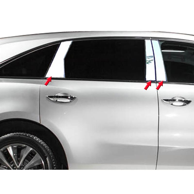 fits 2013-2016 Dodge Dart 6Pc Pillar Post Stainless Steel Trim Door Cover