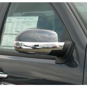 "2007-2013 Tahoe Yukon Denali Silverado Sierra Chrome ""Escalade Style"" Mirror Covers"