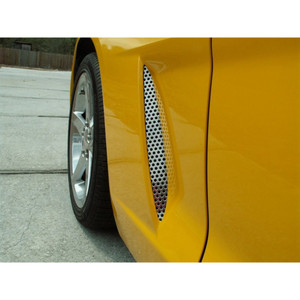 C4 Corvette 1984-1990 Side Vent Grille Perforated 4Pc