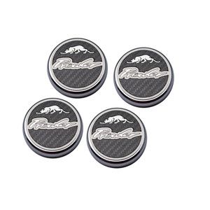 Prowler Cap Covers w/Carbon Fiber Inlay&Brushed Accent for 1999-2002 Prowler