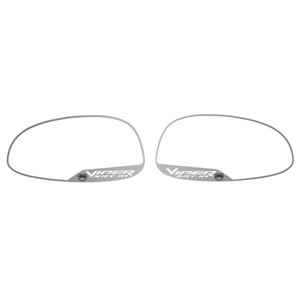 "Brushed Side View Mirror Trim w/""Viper SRT-10"" for 2005-2007 Dodge Viper SRT-10"