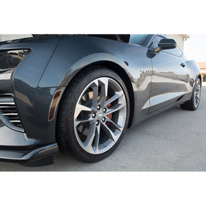 Side Marker Black Out Kit w/Brushed Stainless Steel trim ring for 2016 Camaro