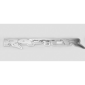 "Polished Stainless Badge w/Brushed ""Raptor"" for 2010-2014 Ford F-150 SVT Raptor"