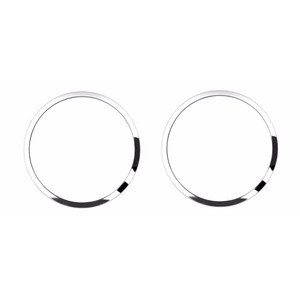 2pc Brushed Stainless Steel Door Speaker Trim for 2015-2016 Ford Mustang