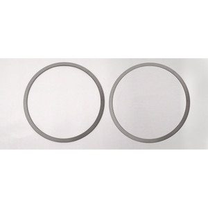 2pc Polished Stainless Steel Door Speaker Trim for 2015-2016 Ford Mustang