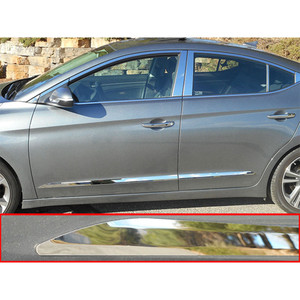 4pc Luxury FX Stainless Steel Body Side Molding for 2017 Hyundai Elantra 4dr