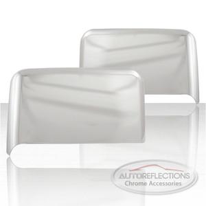 Upper Tow Mirror Covers /w turn Signal for 2015-17 Chevrolet Silverado HD-Chrome