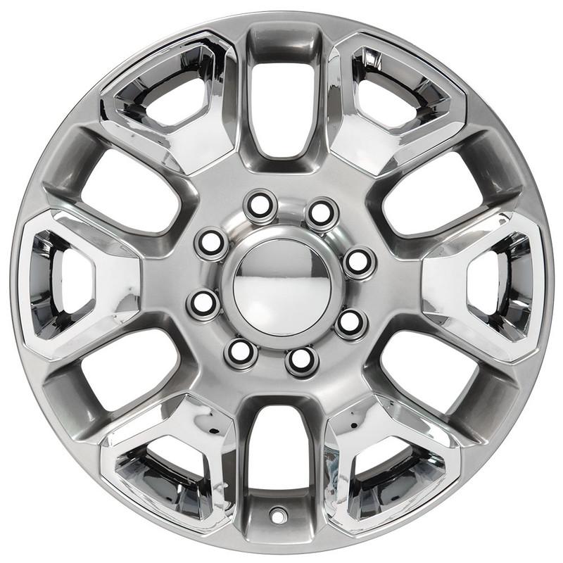 Silver Wheel 20x8 Ram HD Style w/Chrome Inserts for 06-17 Dodge Ram 2500