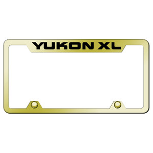 Officially Licensed GMC Yukon XL Laser Etched on Black License Plate Frame
