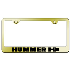 Au-TOMOTIVE GOLD | License Plate Covers and Frames | Hummer H2 | AUGD6024