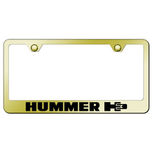 Au-TOMOTIVE GOLD | License Plate Covers and Frames | Hummer H3 | AUGD6025