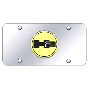 Au-TOMOTIVE GOLD | License Plate Covers and Frames | Hummer H2 | AUGD6028