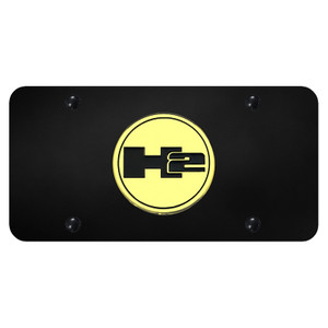 Au-TOMOTIVE GOLD | License Plate Covers and Frames | Hummer H2 | AUGD6031