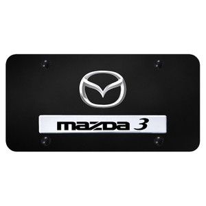 Au-TOMOTIVE GOLD | License Plate Covers and Frames | Mazda 3 | AUGD7167